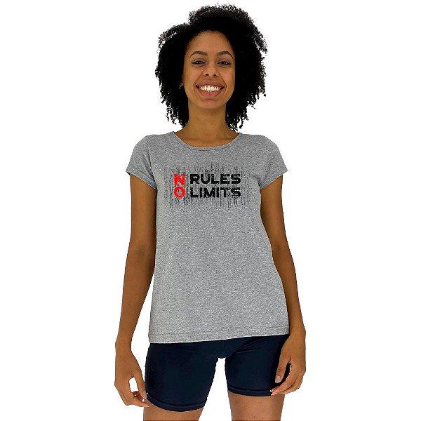 Camiseta Babylook Feminina MXD Conceito Sem Regras Sem Limites