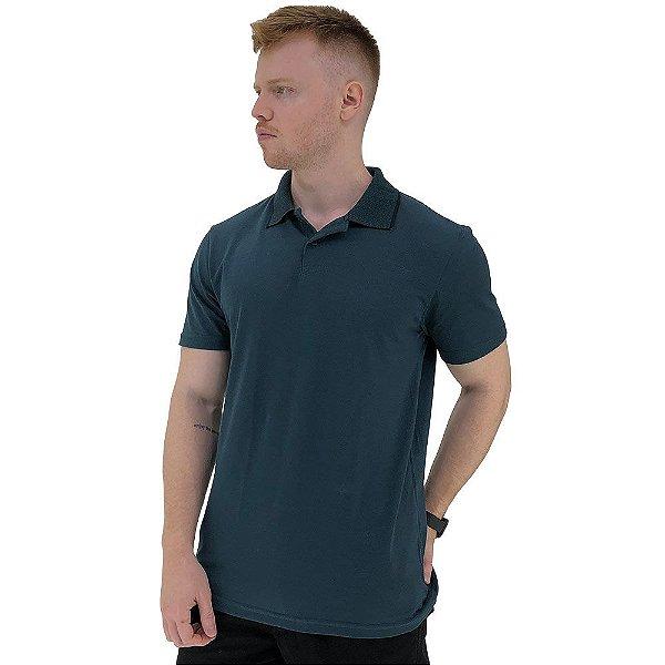 Camisa Gola Polo Masculina MXD Conceito Azul Petróleo