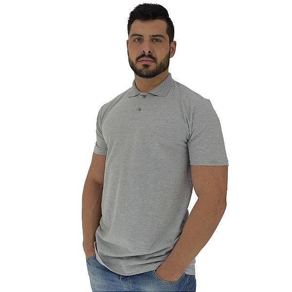 Camisa Gola Polo Masculina MXD Conceito Mescla Gray