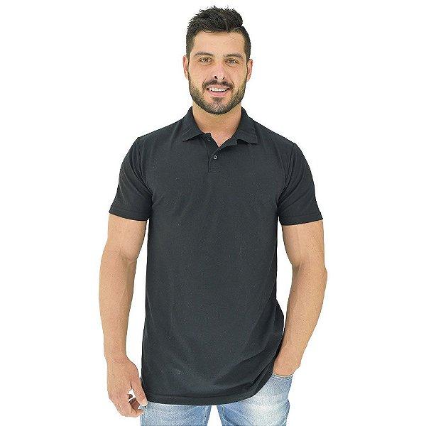 Camisa Gola Polo Masculina MXD Conceito Preto Básico