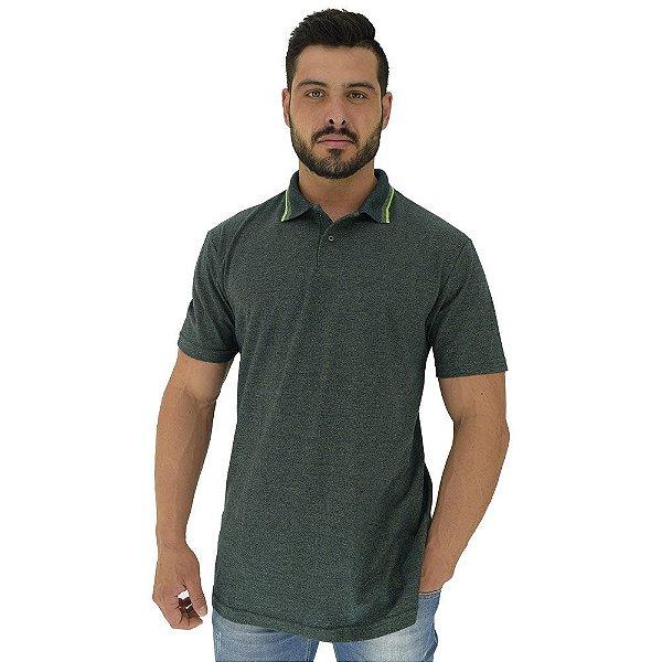 Camisa Gola Polo Masculina MXD Conceito Verde Grafite Mesclado