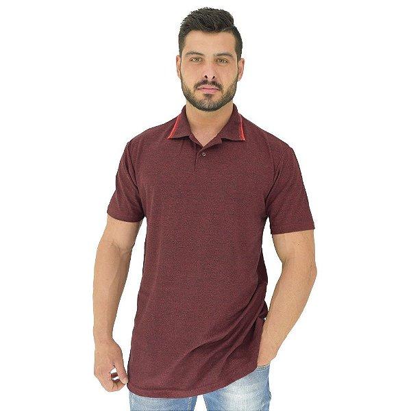 Camisa Gola Polo Masculina MXD Conceito Vinho Mesclado