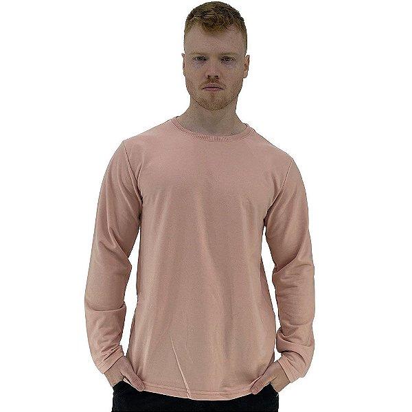 Camiseta Manga Longa Masculina MXD Conceito Rosa Bebê
