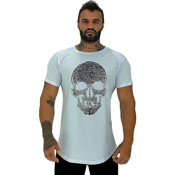 Camiseta Longline Masculina Manga Curta MXD Conceito Caveira Digital