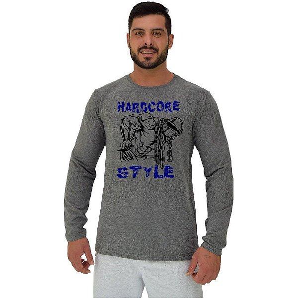 Camiseta Manga Longa Moletinho MXD Conceito Hardcore Style Estilo