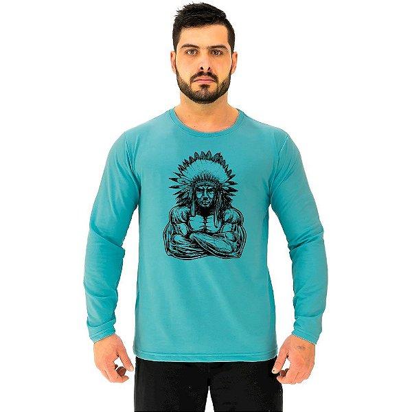 Camiseta Manga Longa Moletinho MXD Conceito Índio Maromba Musculação