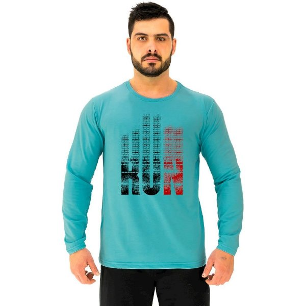 Camiseta Manga Longa Moletinho MXD Conceito Run Corrida