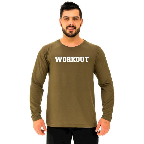 Camiseta Manga Longa Moletinho MXD Conceito Workout Exercite-se