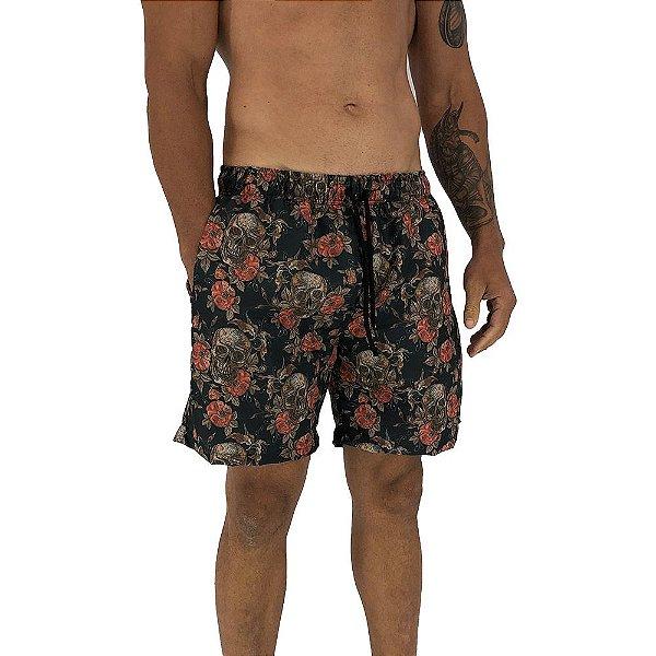 Shorts Praia Tactel Masculino MXD Conceito Dark Skull