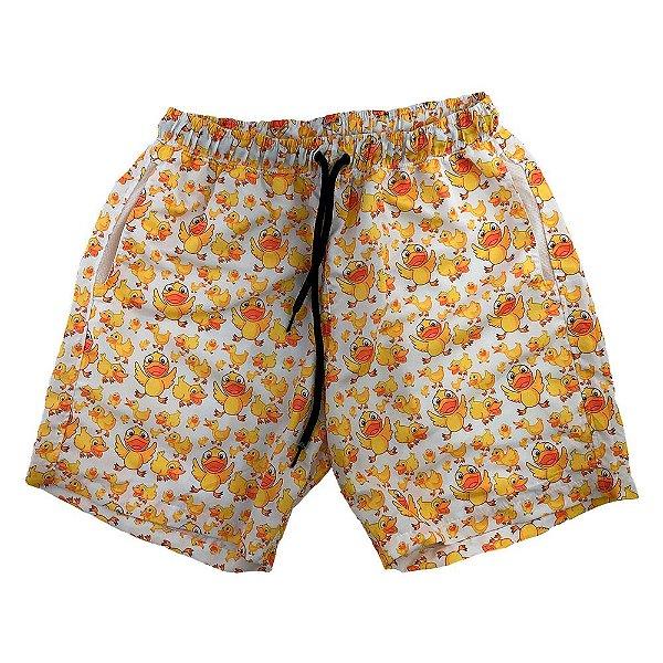 Shorts Praia Tactel Masculino MXD Conceito Patinhos Fofos