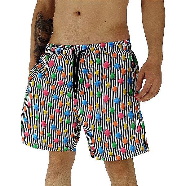 Shorts Praia Tactel Masculino MXD Conceito Static Stones