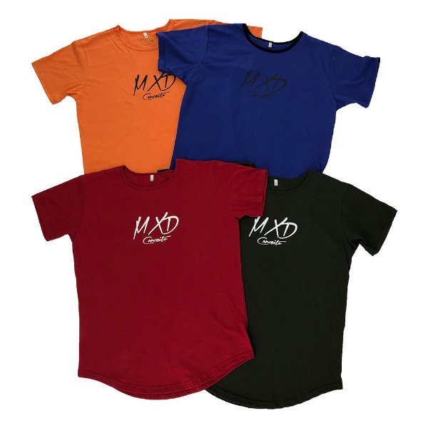 Kit 4 Camisetas Longline Sortidas MXD Conceito Limitada
