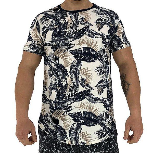 Camiseta Longline Fullprint Masculina MXD Conceito Folhas do Dia