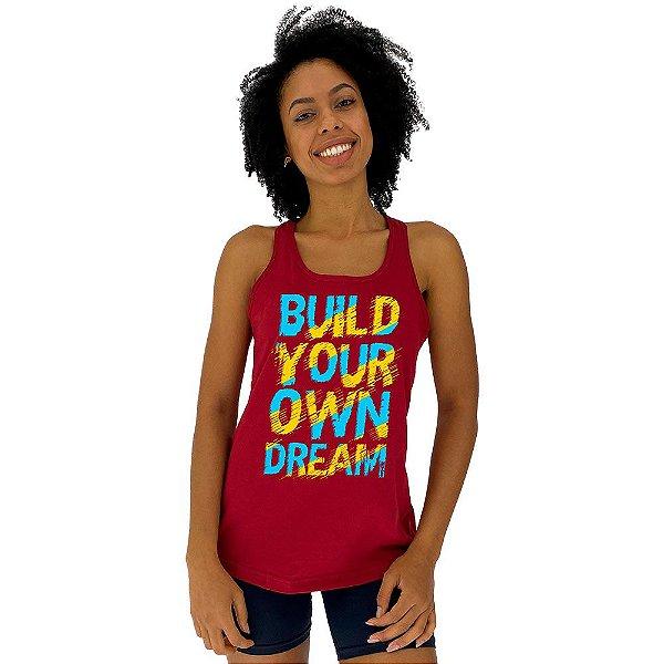 Regata Feminina Recorte Nadador MXD Conceito Build Your Own Dream