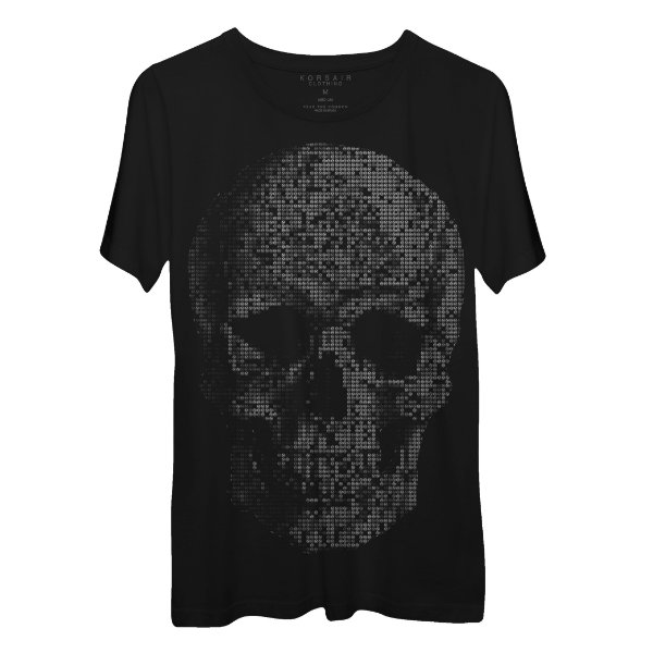 Camiseta Masculina Gola Redonda Korsair Skull Points