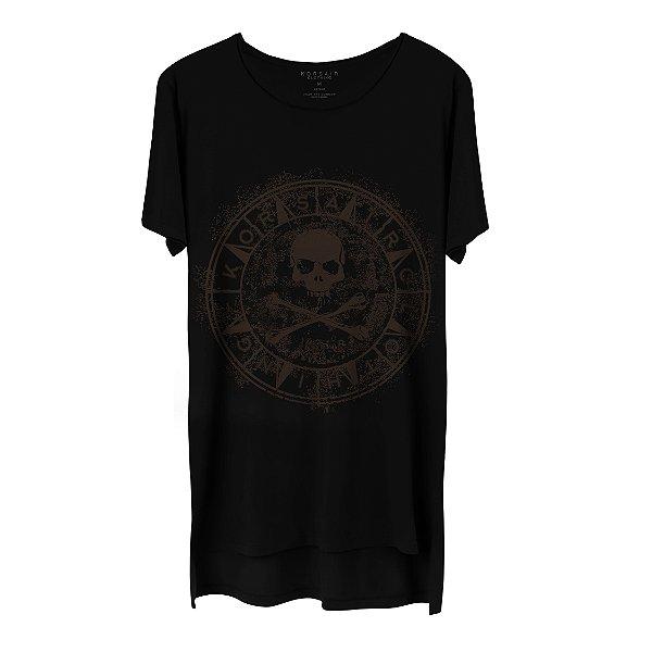 Camiseta Masculina Gola Cavada Korsair Soul Brown