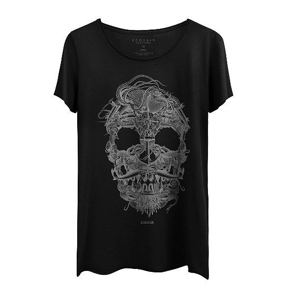 Camiseta Masculina Gola Cavada Korsair Sea Elements Black