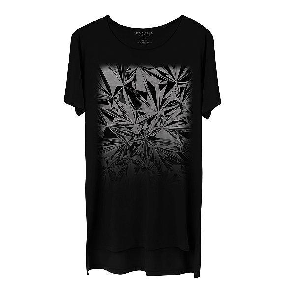 Camiseta Masculina Gola Cavada Korsair Cristal Prisma Black and White