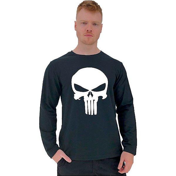 Camiseta Manga Longa Moletinho MXD Conceito Justiceiro