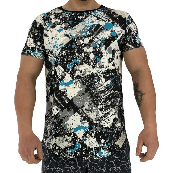 Camiseta Longline Fullprint Masculina MXD Conceito Respingo Tinta