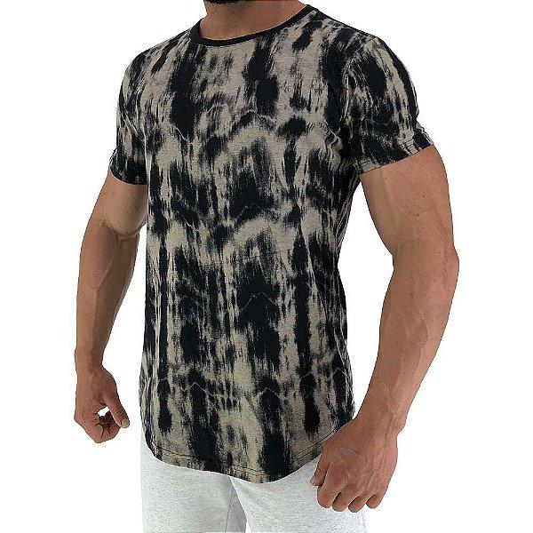 Camiseta Longline Fullprint Masculina MXD Conceito Preto Corrosiva