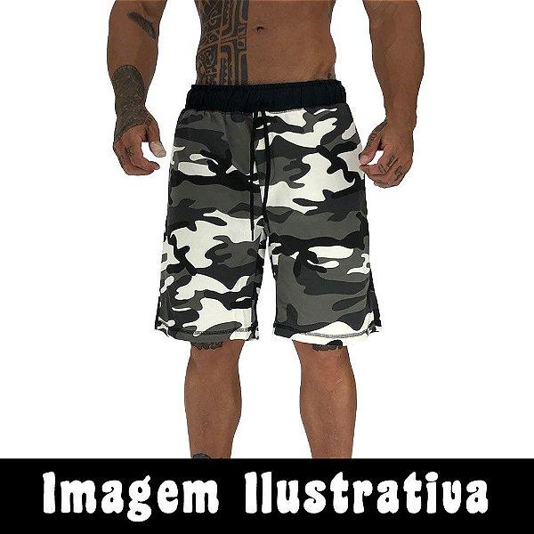 Bermuda Masculina Moletom MXD Conceito Prime Gray BIggest COM FALHA