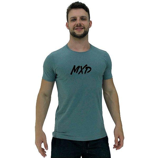 Camiseta Diferenciada Masculina KM MXD Conceito Mescla Cinza Escuro Pincelado