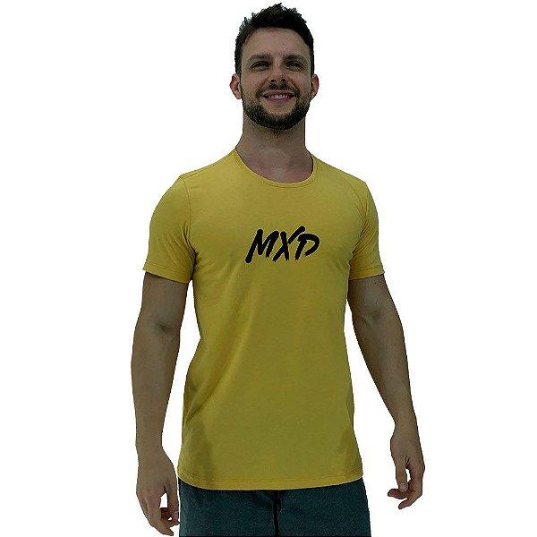Camiseta Diferenciada Masculina KM MXD Conceito Amarelo Pincelado