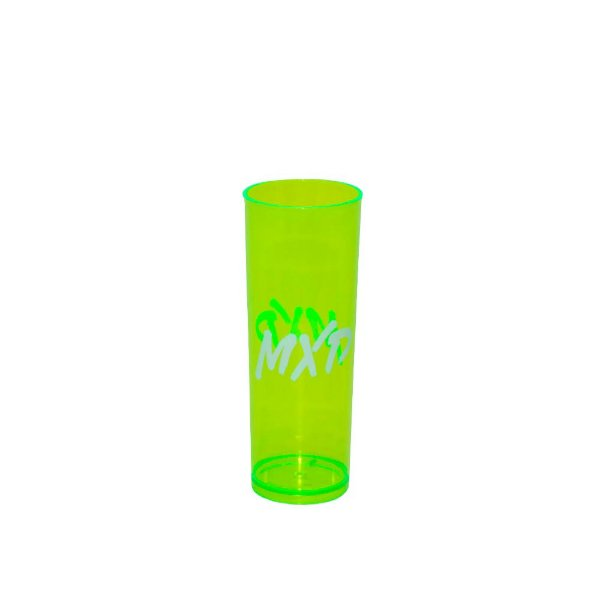 Copo Long Drink Acrílico MXD Conceito Verde Neon Translúcido