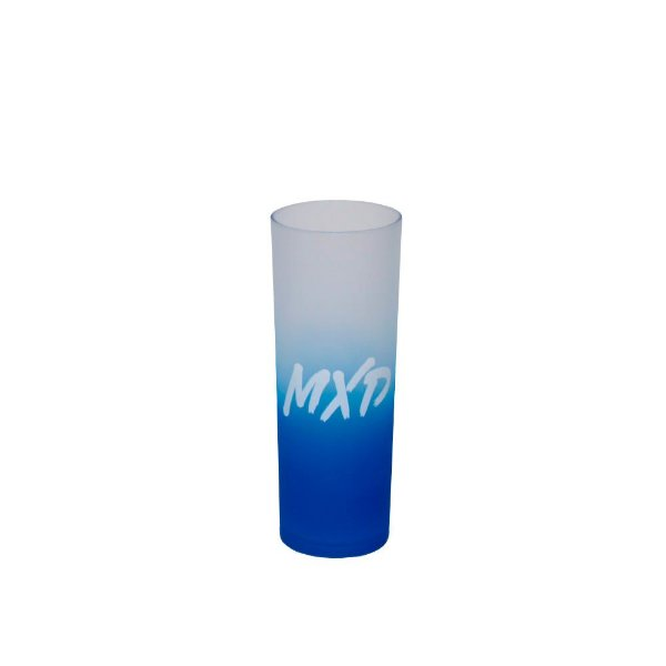 Copo Long Drink Acrílico MXD Conceito Azul Fosco Degrade