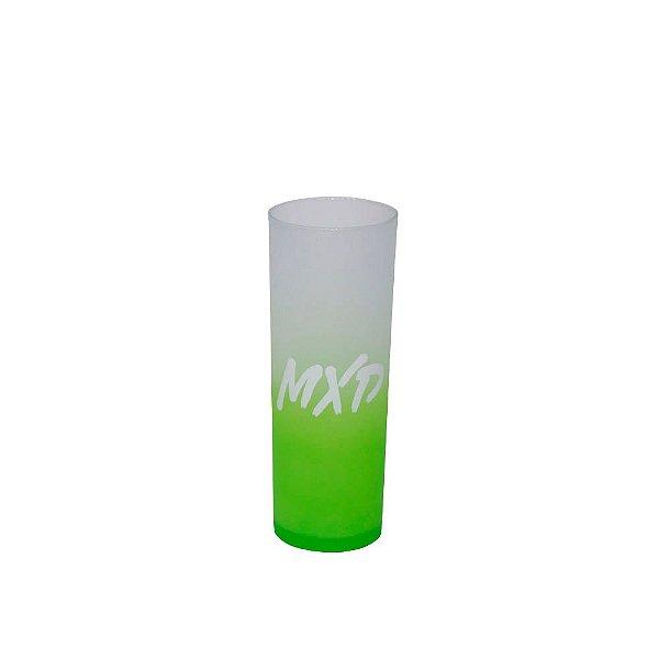 Copo Long Drink Acrílico MXD Conceito Verde Limão Fosco Degrade