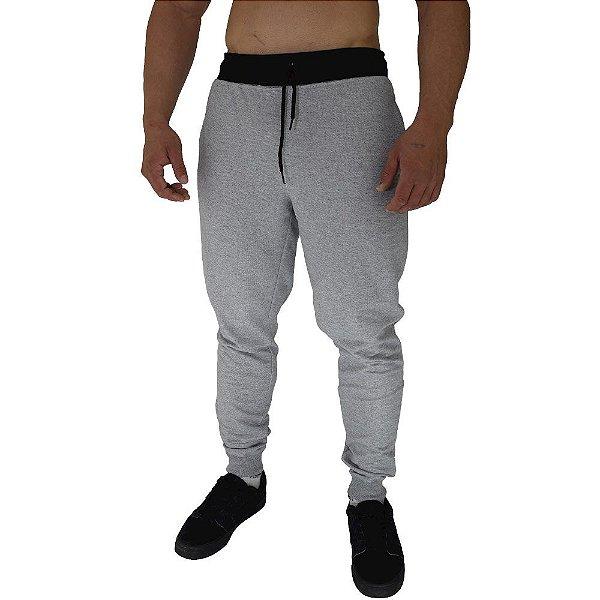Calça Masculina Plus Size Moletom MXD Conceito Mescla Tradicional