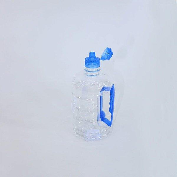 Garrafa Squeeze Pet Aptar Azul C/Alça Pet 600ML
