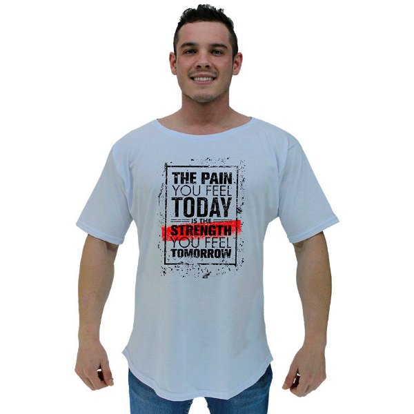 Camiseta Morcegão Masculina MXD Conceito The Pain You Feel Today Is The Strength You Feel Tomorrow