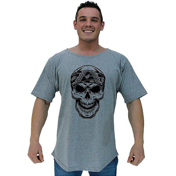 Camiseta Morcegão Masculina MXD Conceito Caveira Bandana