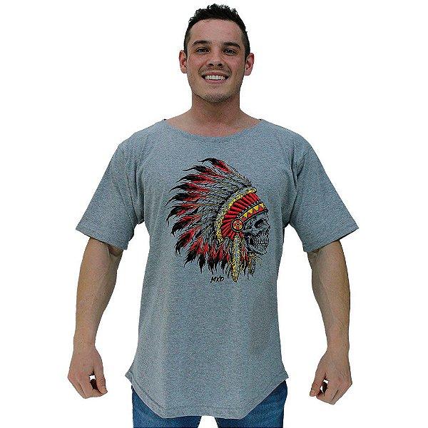 Camiseta Morcegão Masculina MXD Conceito Caveira Cacique