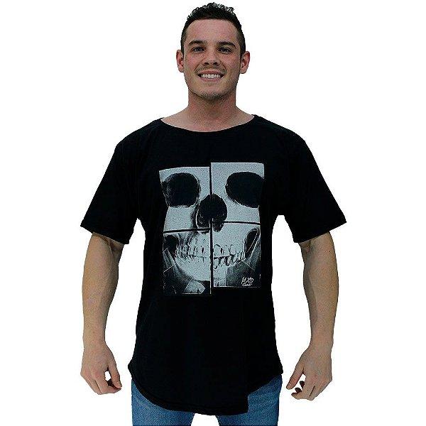 Camiseta Morcegão Masculina MXD Conceito Caveira Mosaico