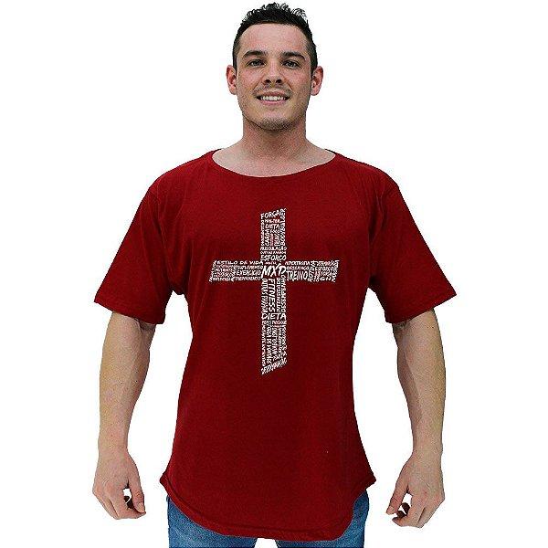 Camiseta Morcegão Masculina MXD Conceito Cruz Motivacional