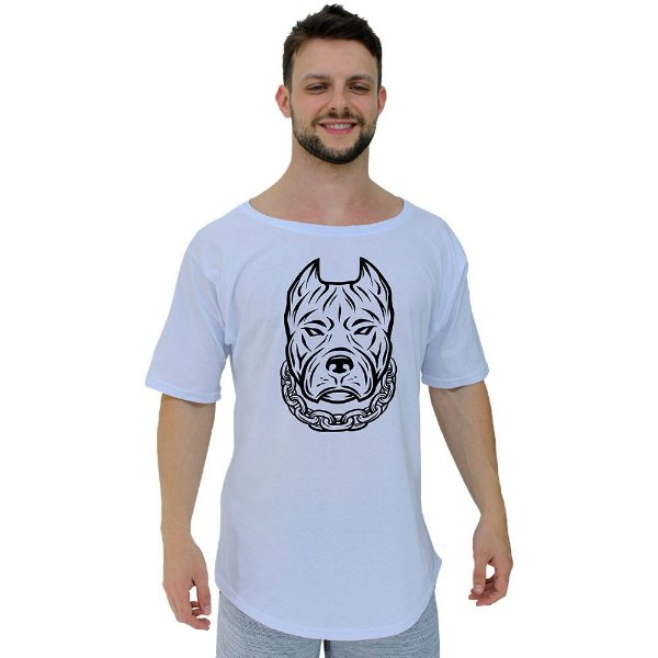 Camiseta Morcegão Masculina MXD Conceito Pitbull De Corrente