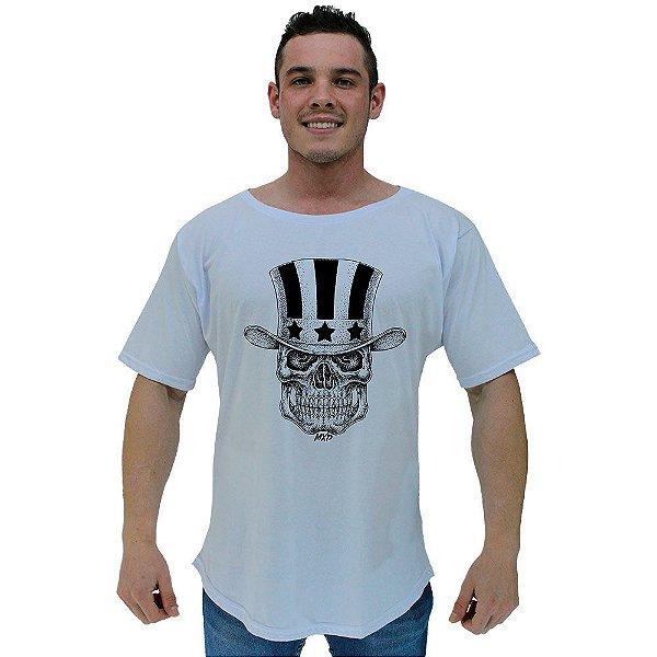 Camiseta Morcegão Masculina MXD Conceito Caveira Com Cartola