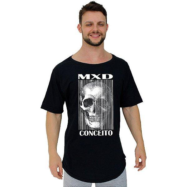 Camiseta Morcegão Masculina MXD Conceito Caveira Listrada