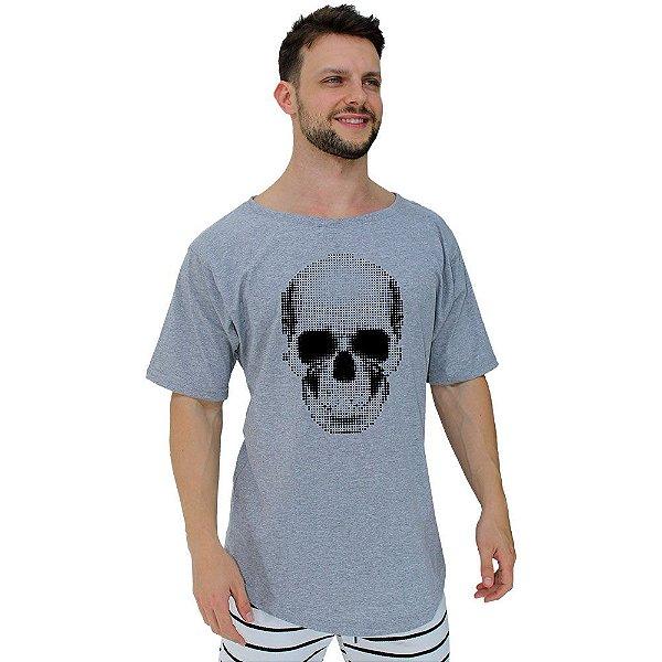 Camiseta Morcegão Masculina MXD Conceito Caveira Pontinhos