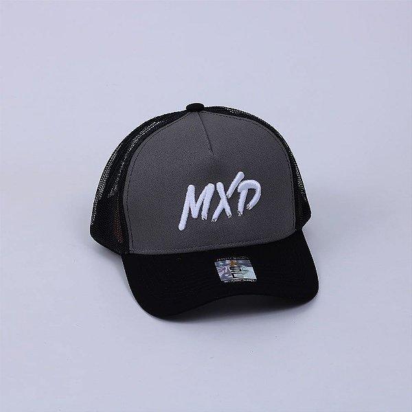 Boné Trucker MXD Conceito Unissex Cinza Escuro