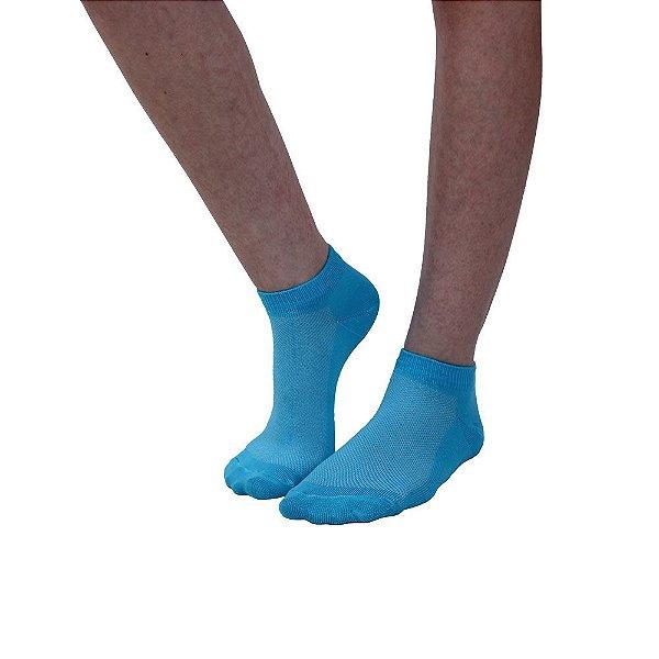 Meia Cano Curto Modelo Sapatilha Azul Bebê Feminino Tamanho 35 ao 39