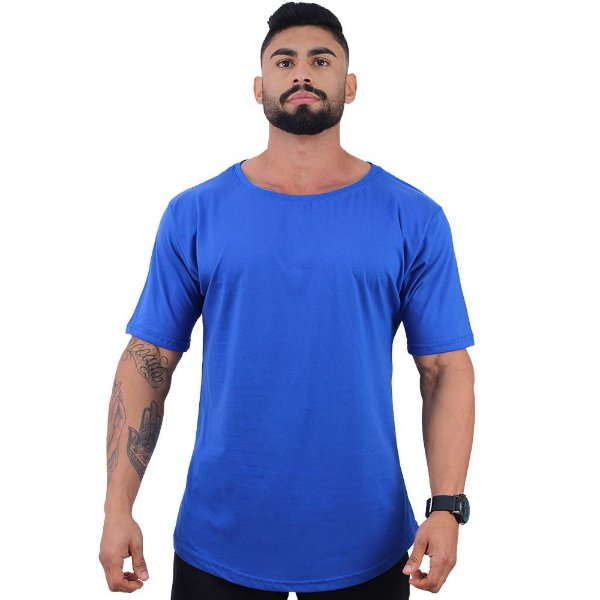Camiseta Morcegão Masculina MXD Conceito Lisa Azul