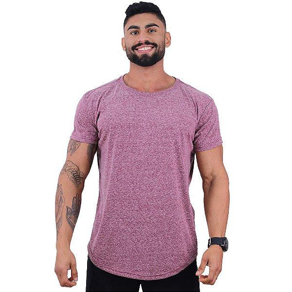 Camiseta Longline BENETTON Masculina MXD Conceito Mescla Vermelho
