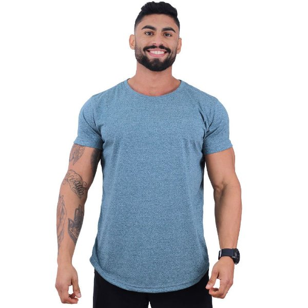 Camiseta Longline MOLINE Masculina MXD Conceito Mescla Azul
