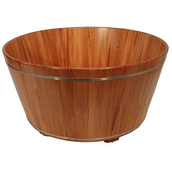 Ofurô Redondo Indivual - Ofurô confeccionado em madeira - MULTIFORMA