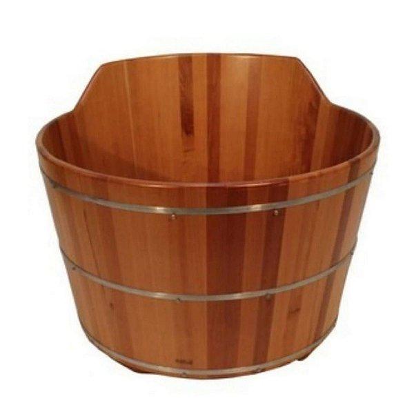 Ofurô Redondo Casal com Espaldar - Ofurô confeccionado em madeira - MULTIFORMA