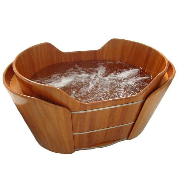 Ofurô Shell para Casal  - Ofurô confeccionado em madeira - MULTIFORMA.